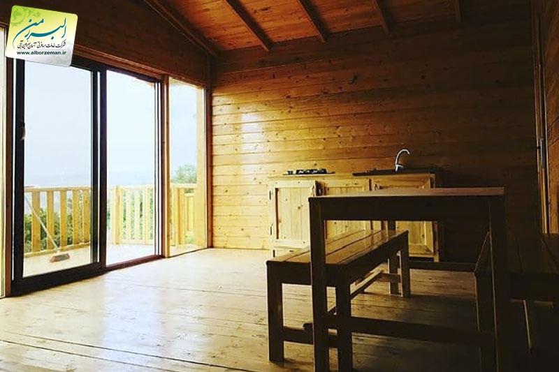 کلبه چوبی اقامتگاه الیزه